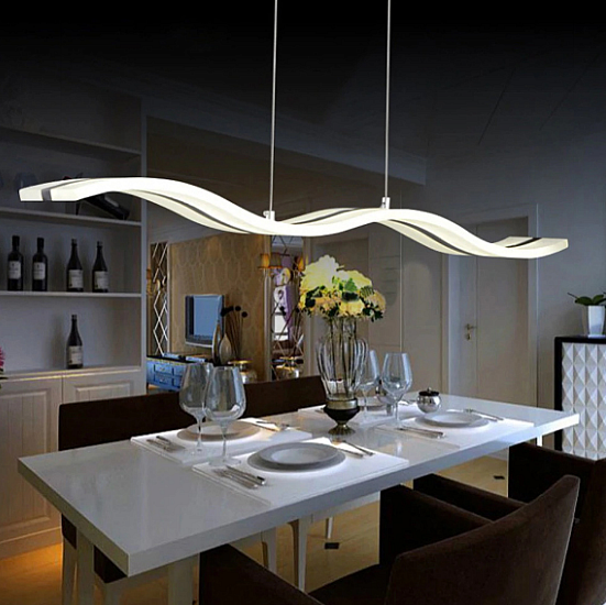 Свет вдоль всего стола