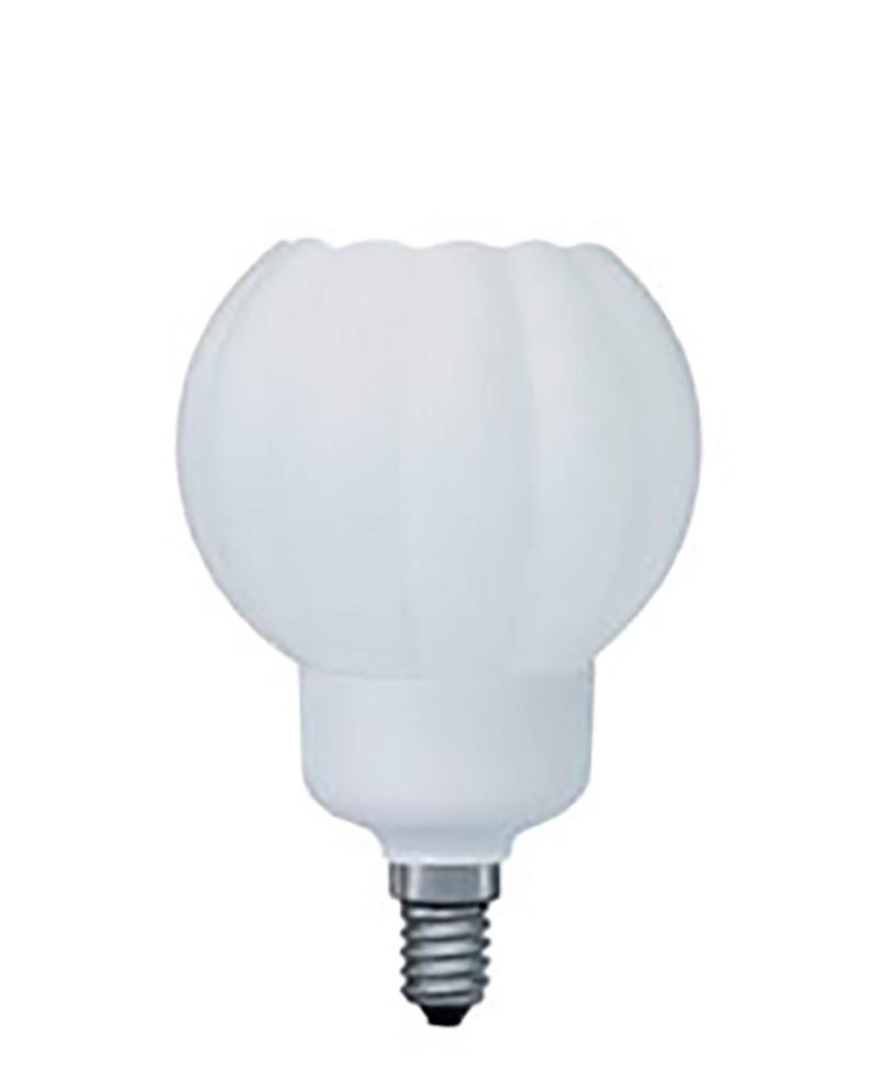 89235 Лампа энергосберегающая DecoShape R2 опал 9W E14 2700К теплый белый Paulmann