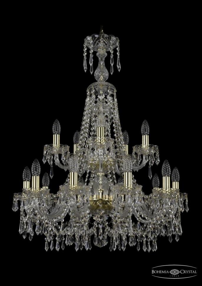 1403/10+5/240/XL-92/2d/G Подвесная люстра Bohemia Ivele Crystal фото