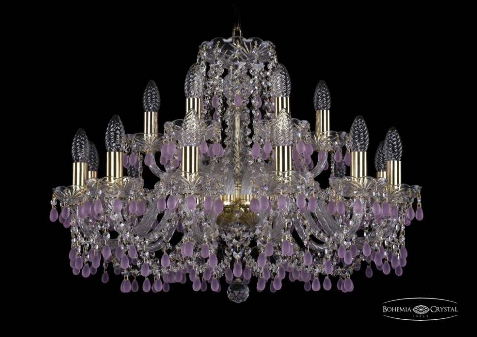 1410/12+6/240/G/V7010 Подвесная люстра Bohemia Ivele Crystal фото