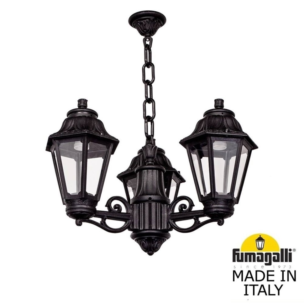 E22.120.S30.AXF1R Светильник уличный подвесной Fumagalli Sichem/Anna 3L фото