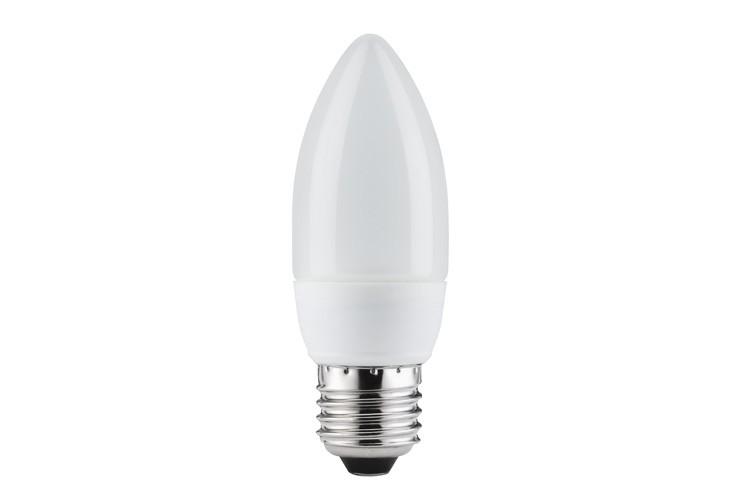 89117 Экономная лампа свеча электроник, опал, E27, 7W, 2700К Paulmann