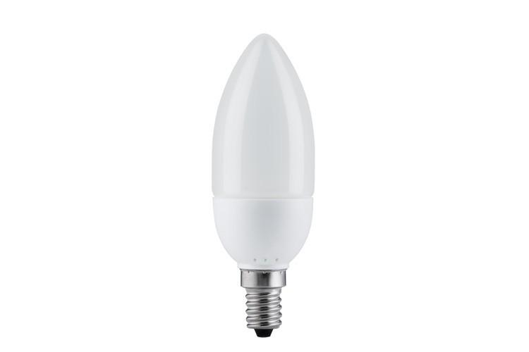 89107 Экономная лампа свеча электроник, опал, E14, 7W 2700К Paulmann