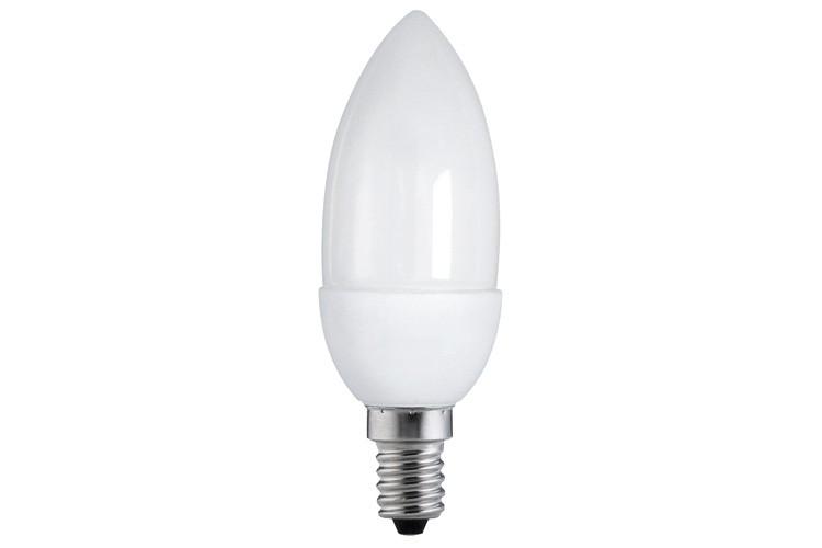 89103 Экономная лампа свеча электроник, опал, E14, 3W 2700К Paulmann