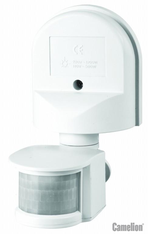 LX-16C/Wh Электронный сенсор включения освещения, настенный, 180° Camelion, белый (6450)