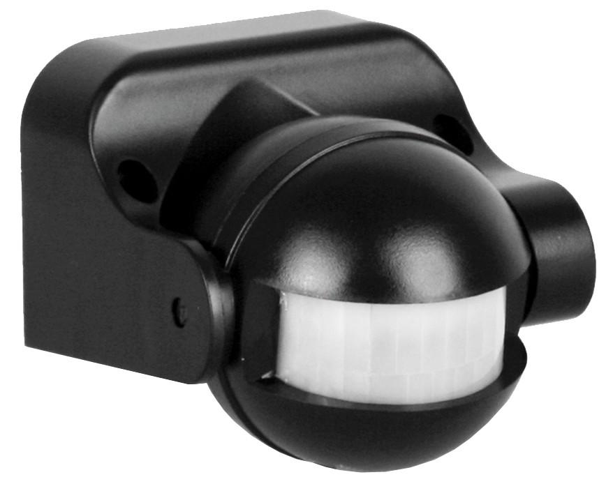 LX-39/Bl Электронный сенсор включения освещения, настенный, 180° Camelion, черный (6447)
