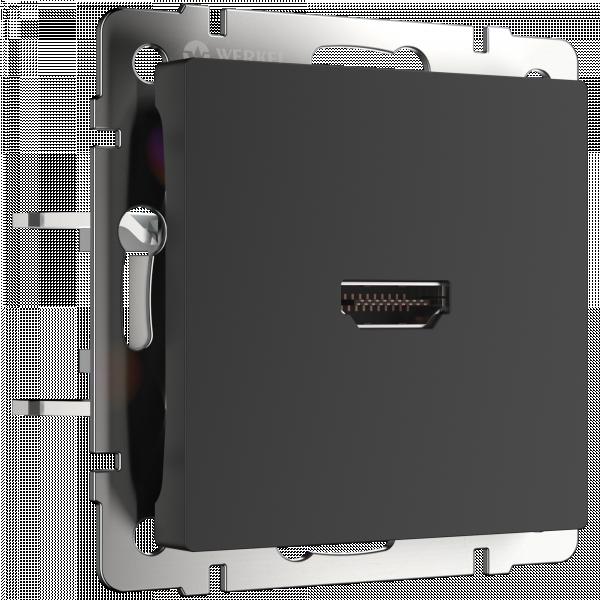 Розетка HDMI (черный матовый) Werkel WL08-60-11 (a039274)