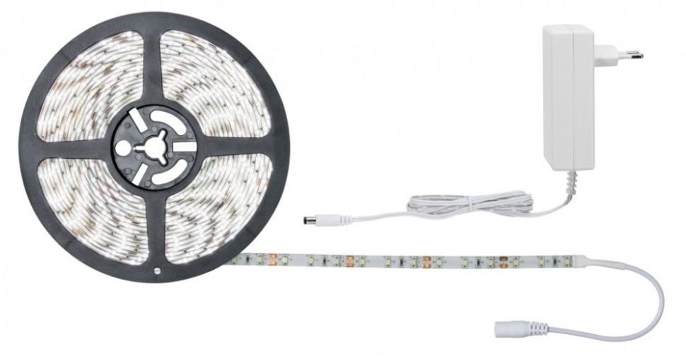 7,5м. Светодиодная лента дневного цвета 6500К, 20W, 12V, 60LED/m, IP20 Paulmann SimpLED Stripe Set 78976