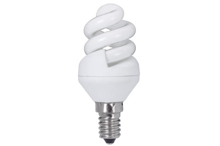 89434 Лампа энергосберегающая, спираль 5W E14 2700К теплый белый, экстра Paulmann